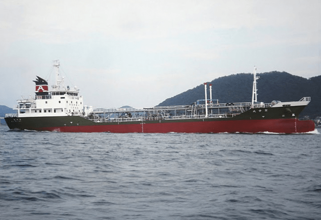 The 998-ton Shoyo Maru was built in 1995 and is chartered by Asahi Tanker Co., according to Syoho Shipping's website. File photo courtesy Syoho Shipping