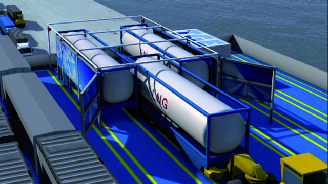 lng tanks searoad ferry