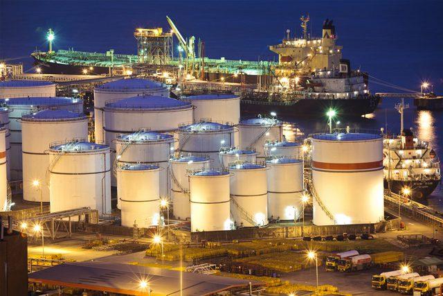 oil terminal fuel tanks ship tanker