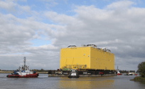 HelWin Beta HVDC Converter Station Leaves Zwijndrecht