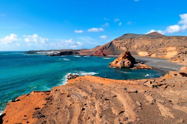 El Golfo bay Western Lanzarote Canary islands