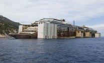 Costa Concordia Fully Afloat