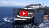 Watch: Drone Films Costa Concordia Under Tow