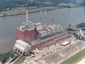 An aerial of the W.C. Beckjord Station, situated along the Ohio River southeast of southeast of Cincinnati. Photo courtesy Duke Energy