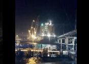 Cargo Ship Breaks from Mooring in Fremantle, Strikes Rail Bridge