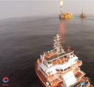 Jaya Cavalier Conducts ROV Ops off Congo as Gas Flares from Nearby FPU [VIDEO]