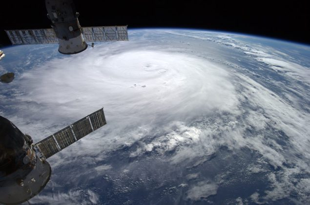 Hurricane Gonzalo as seen from the International Space Station, October 16, 2014. Photo credit: NASA