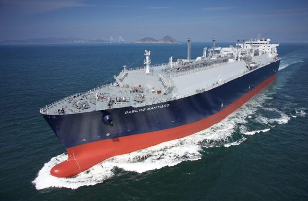 File photos shows an SHI-built LNG carrier. Photo credit: Samsung Heavy Industries
