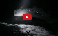 Video Shows RV Ocean Researcher V Aground Off Taiwan, Frantic Search and Rescue
