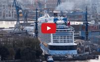 WATCH: Quantum of the Seas Enters Hamburg Dry Dock