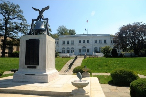 Wiley Hall, located on the main campus of the U.S. Merchant Marine Academy at Kings Point.