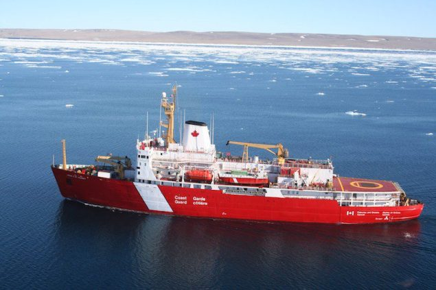 The heavy icebreaker CCGS Louis S. St-Laurent courtesy Canadian Coast Guard