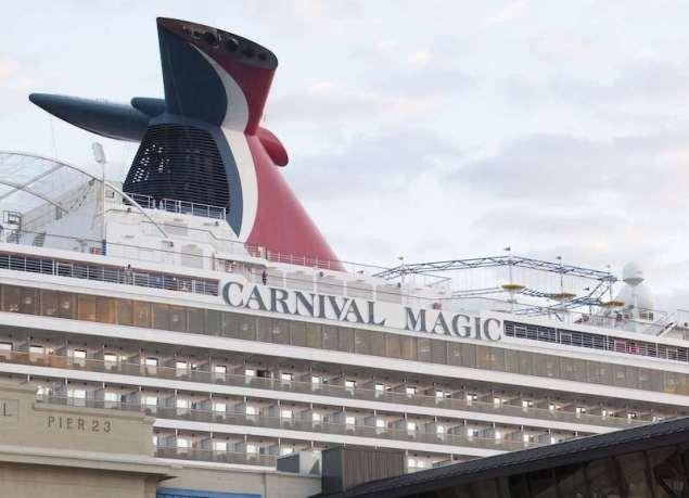 The Carnival cruise ship Carnival Magic is seen in port in Galveston, Texas October 19, 2014. REUTERS/Daniel Kramer