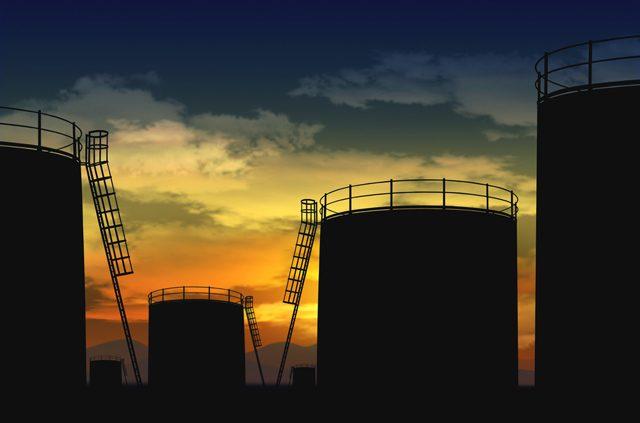oil tank silhouette