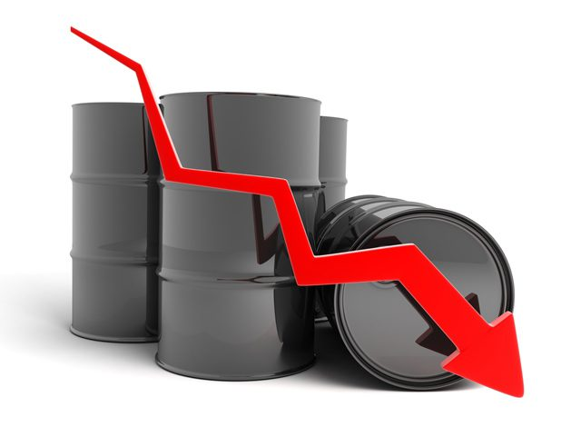 oil price sinking crude falling
