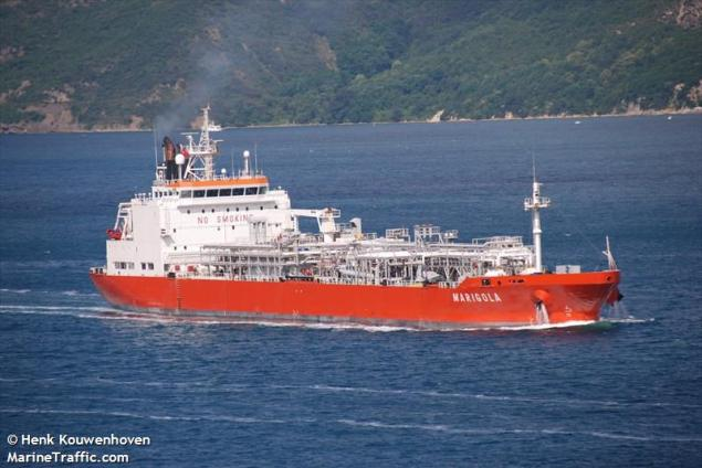 The LPG carrier, MT Marigola. File photo (c) MarineTraffic.com/Henk Kowenho