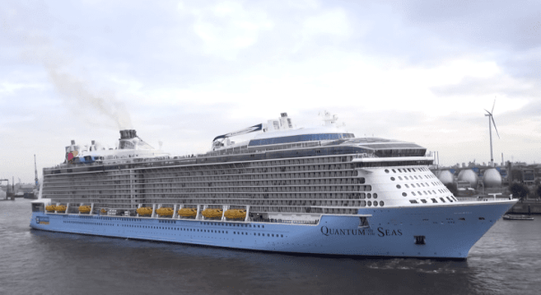 Royal Caribbean's Quantum of the Seas is sailing its inaugural cruise season out of the New York area this winter before heading to its homeport of Shanghai, China in May. Image courtesy Kallis Video Production