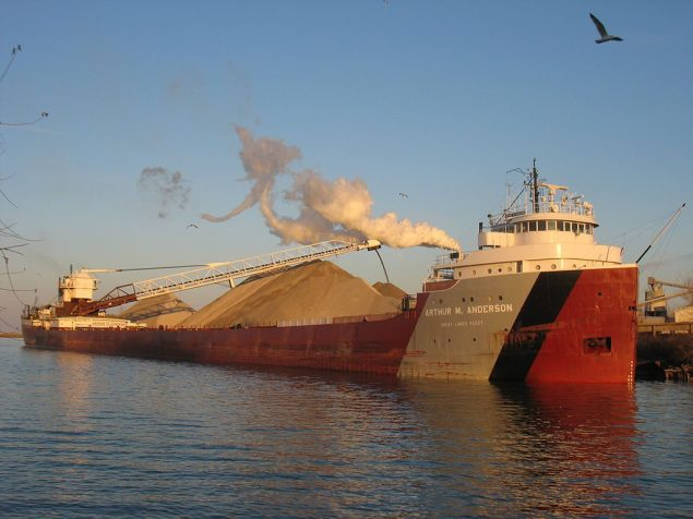 The famous Great Lakes freighter, MV Arthur M. Anderson. File photo via Wikimedia Commons