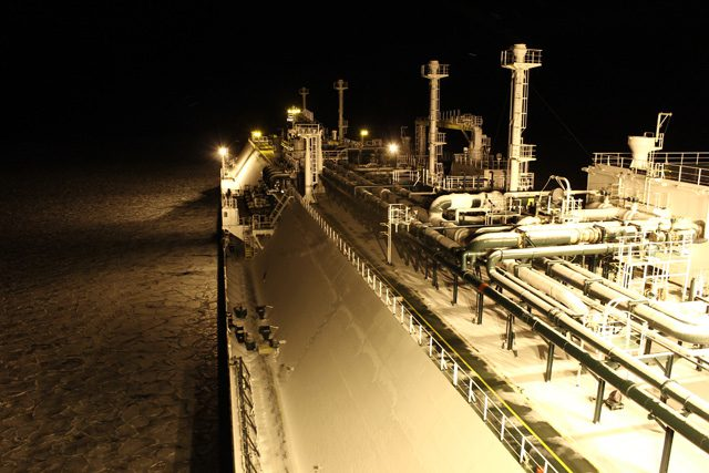 lng carrier night ice-class