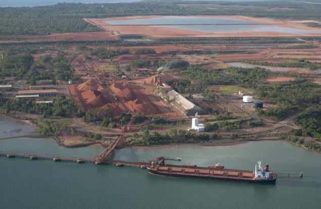 "The IMSBC describes bauxite as ""a brownish, yellow claylike and earthy mineral, insoluble in water."" Photo (c) Shutterstock/John Carnemolla"