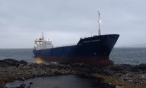 Svitzer Salvage Team Inspects Grounded DFDS Cargo Ship