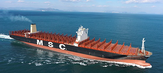 Delivered in November 2014, MSC Oscar has a nominal capacity of 19,224 TEUs. Photo courtesy DNV GL
