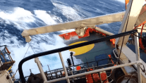 WATCH: Emergency Response and Rescue Vessel Takes Seriously Heavy Roll