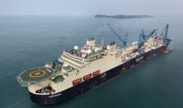 Saipem's Giant Pipelay Ship Castorone Starts Work Off Darwin