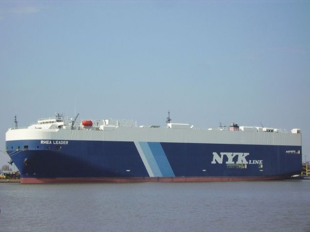 File photo of NYK car carrier. Creative Commons