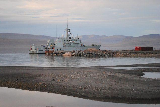 HMCS GOOSE BAY at Nanisivik. Wikimedia Commons