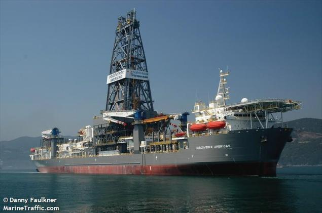 Transocean's Discoverer Americas drillship. Photo (c) MarineTraffic/