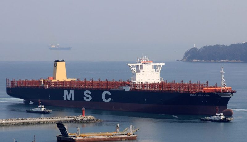 MSC Oliver returns from sea trials off Okpo, Korea, March 21, 2015. Photo courtesy