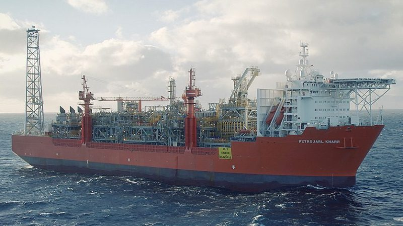 Teekay's Petrojarl Knarr FPSO is on charter to BG Group. Photo: BG Group