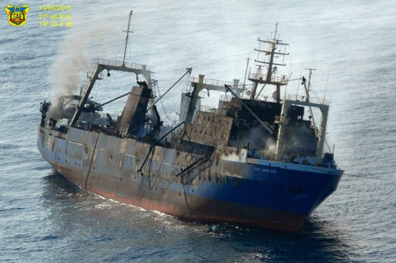 In June 2015, Ardent was hired to remove oil from the sunken Oleg Naydenov near the Canary Islands. Photo: Salvamento Maritimo