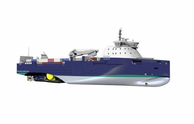 The Environship NVC 405 ship design from Rolls-Royce, showing the propulsion and tank arrangement.