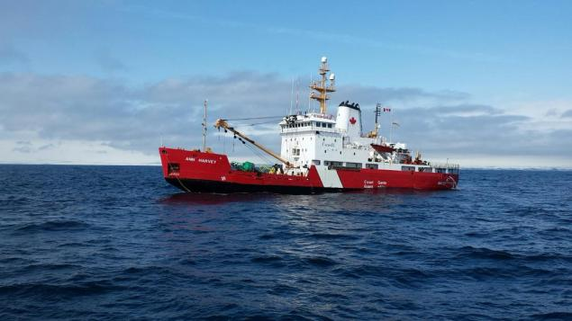 Photo of the CCGS Ann Harvey taken at 3 p.m. local time, April 1, 2015. Photo: JTF Atlantic