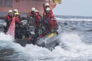 Greenpeace Activists Forced Off Shell Oil Rig