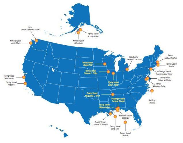 2014 Marine Accident Locations