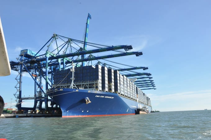 CMA CGM Kerguelen, the first in a series of six ultra-large containerships for CMA CGM. Photo: CMA CGM