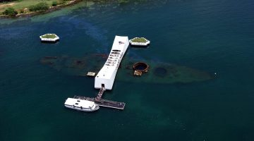 File photo of USS Arizona Memorial in Hawaii