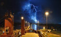 Panama Canal Lightning Storm – Ship Photo Of The Day
