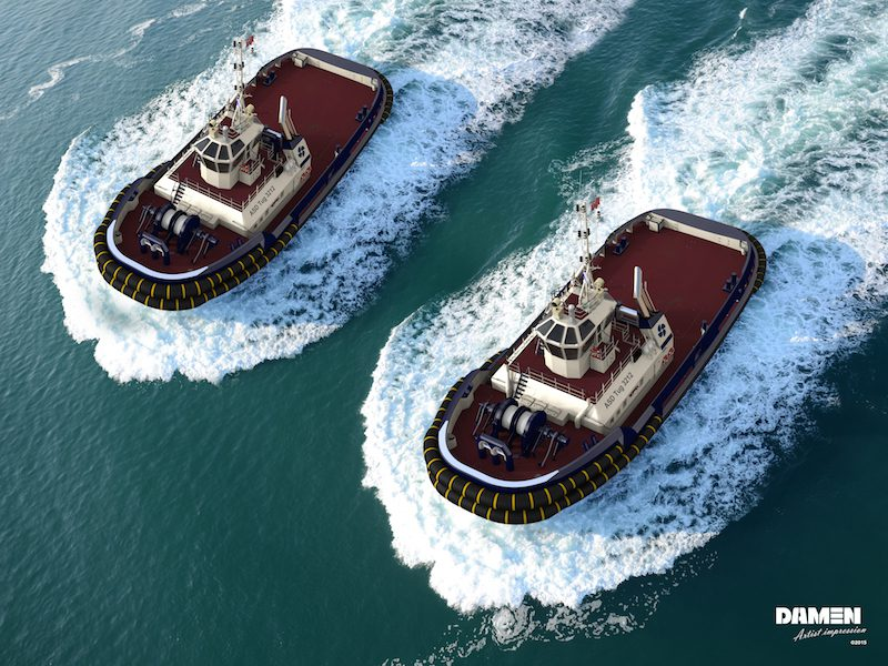 Rendering of the Damen ASD 3212 tugs. Photo: Damen Shipyards Group