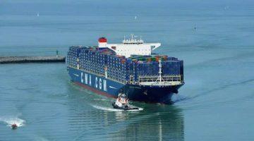 CMA CGM's largest ship, MV CMA CGM Kerguelen. Photo: CMA CGM Group