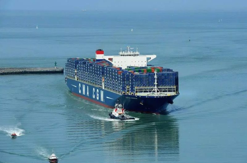 CMA CGM's largest ship, MV CMA CGM Kerguelen. Photo: CMA CGM Group