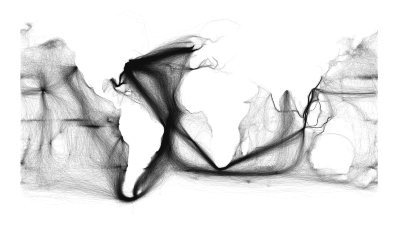 Old Shipping Routes Map