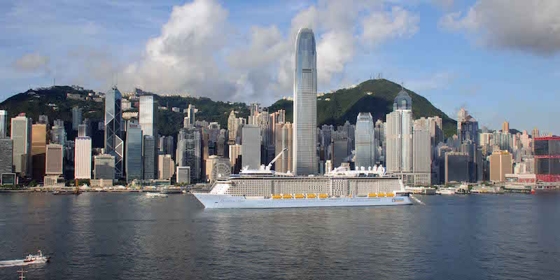 Quantum of the Seas arrives in Hong Kong in June 2015. Photo: Ian Edwards