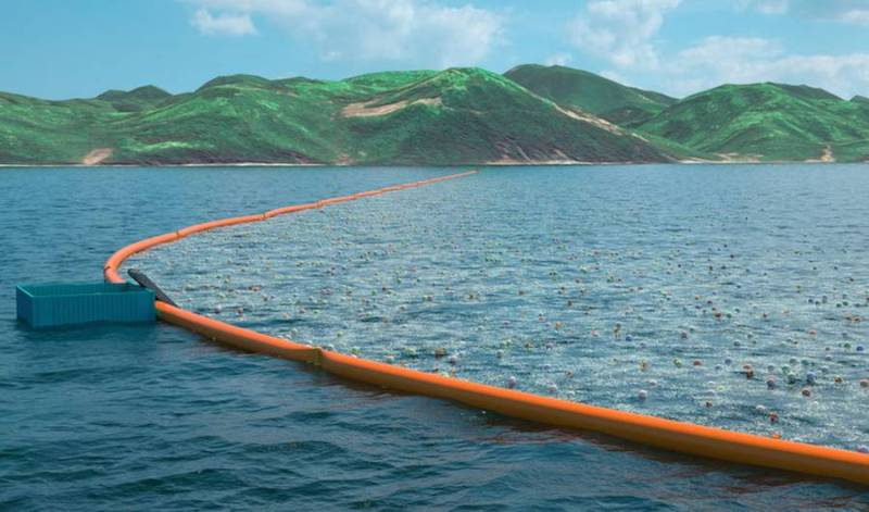 The Ocean Cleanup plastic boom