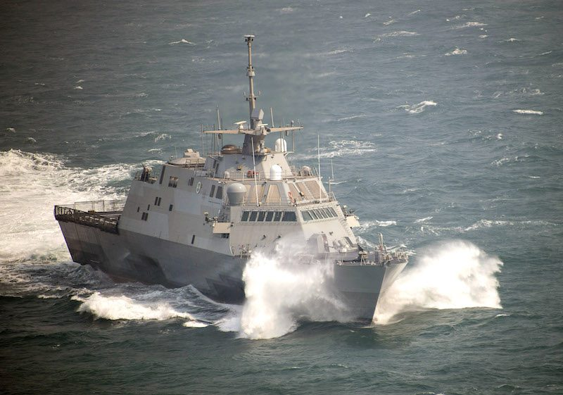 The littoral combat ship USS Fort Worth (LCS 3) is underway during exercise Foal Eagle 2015, March 11, 2015. U.S. Navy Photo