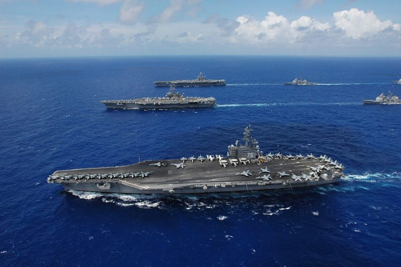 USS Ronald Reagan (CVN 76) (foreground). File Photo: Creative Commons