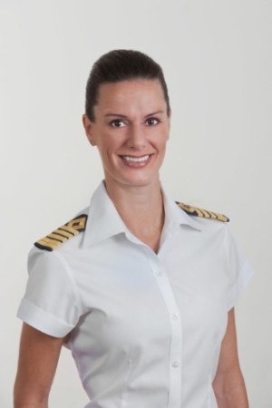 Celebrity Cruises named Kate McCue as the cruise industry's first American female captain. Photo: PRNewsFoto/Celebrity Cruises